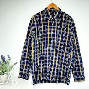 J Crew Men's Plaid Button Down Shirt size XL